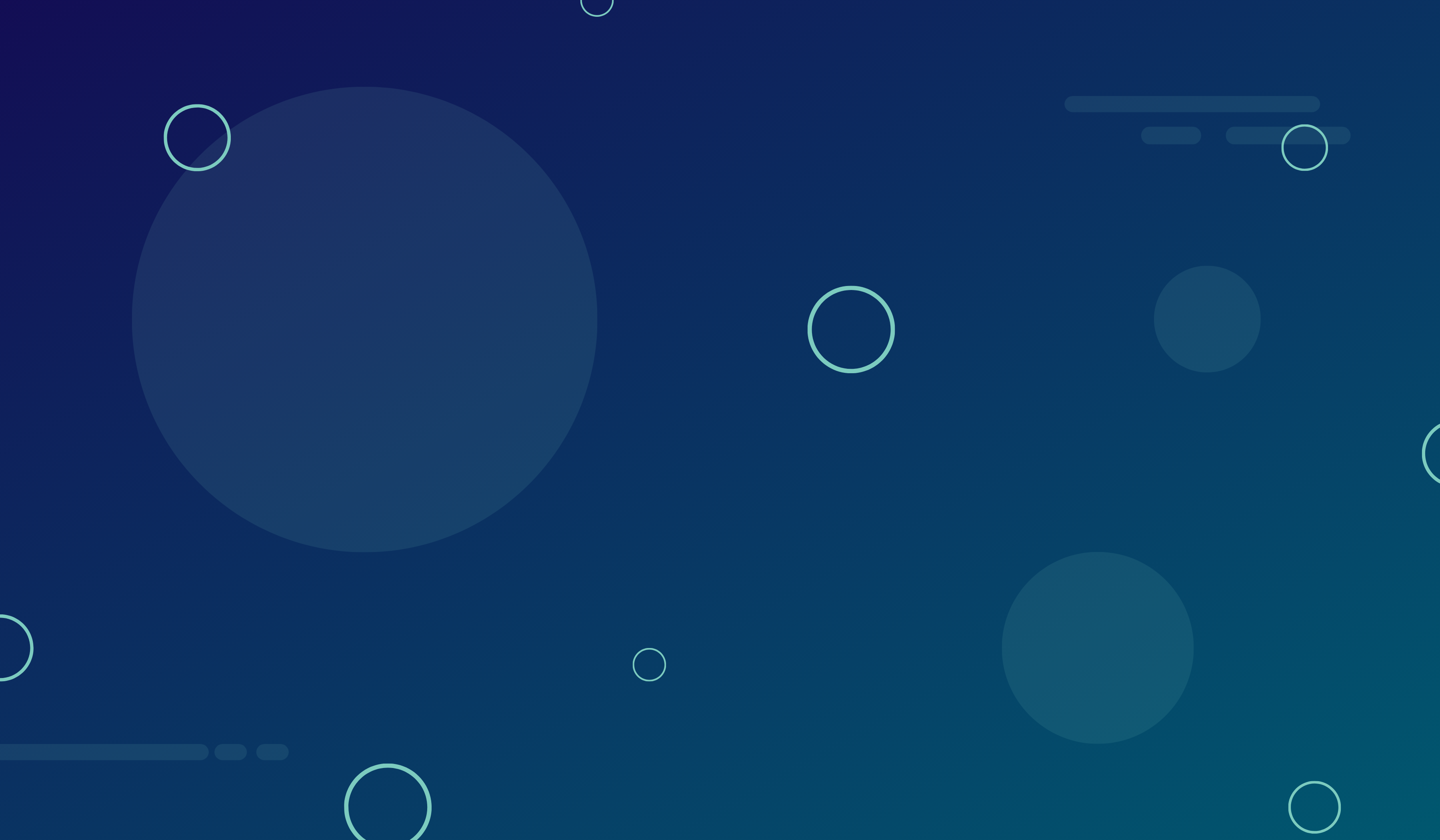 5 Insights From B2B Blog Strategies That Convert. Image contents: Dark blue gradient background with circles.