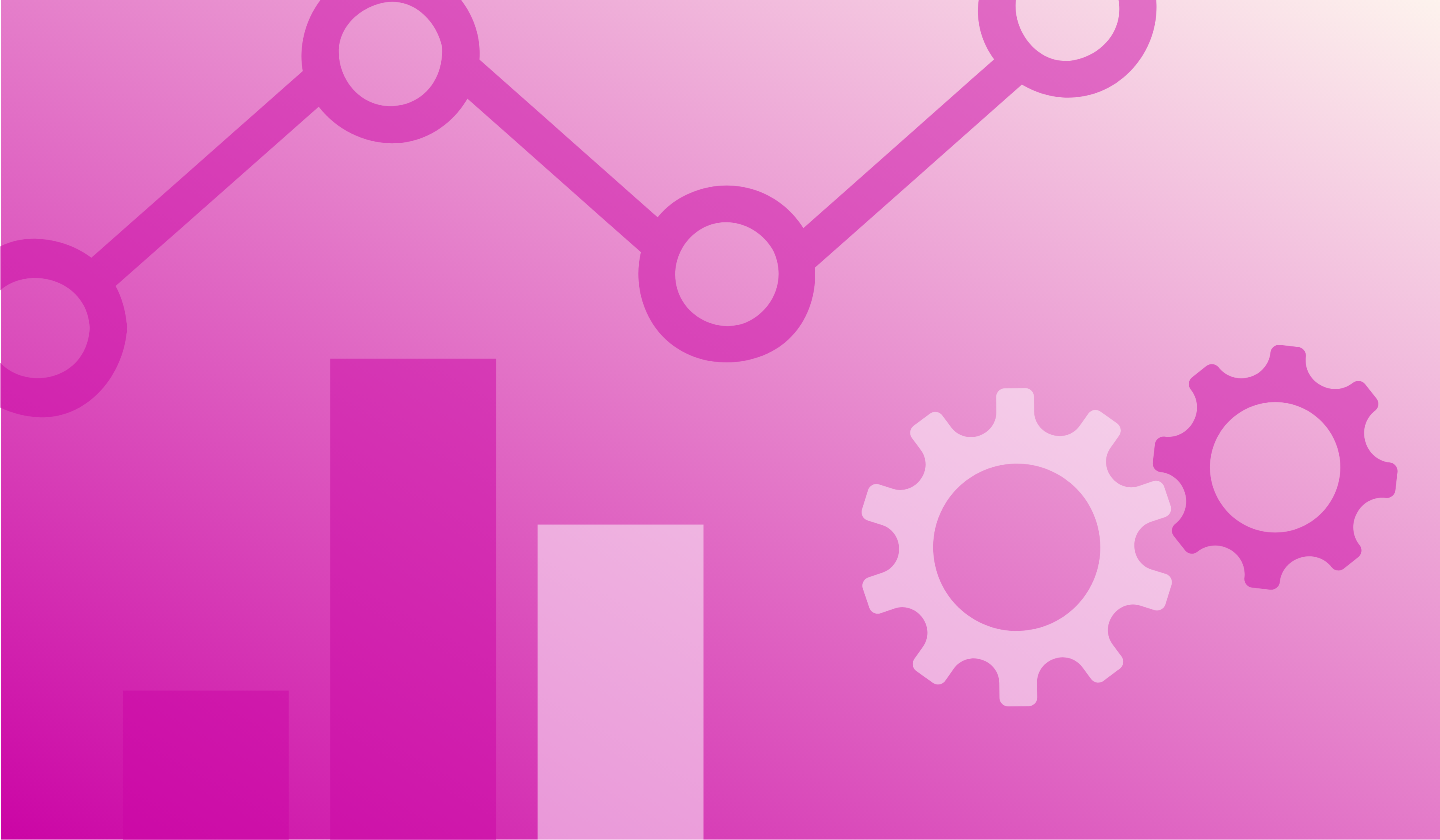 How to Unlock Your Website's Potential Quickly With a Content Audit. Image contents: Pink gradient with bar graph, gear, and line graph.
