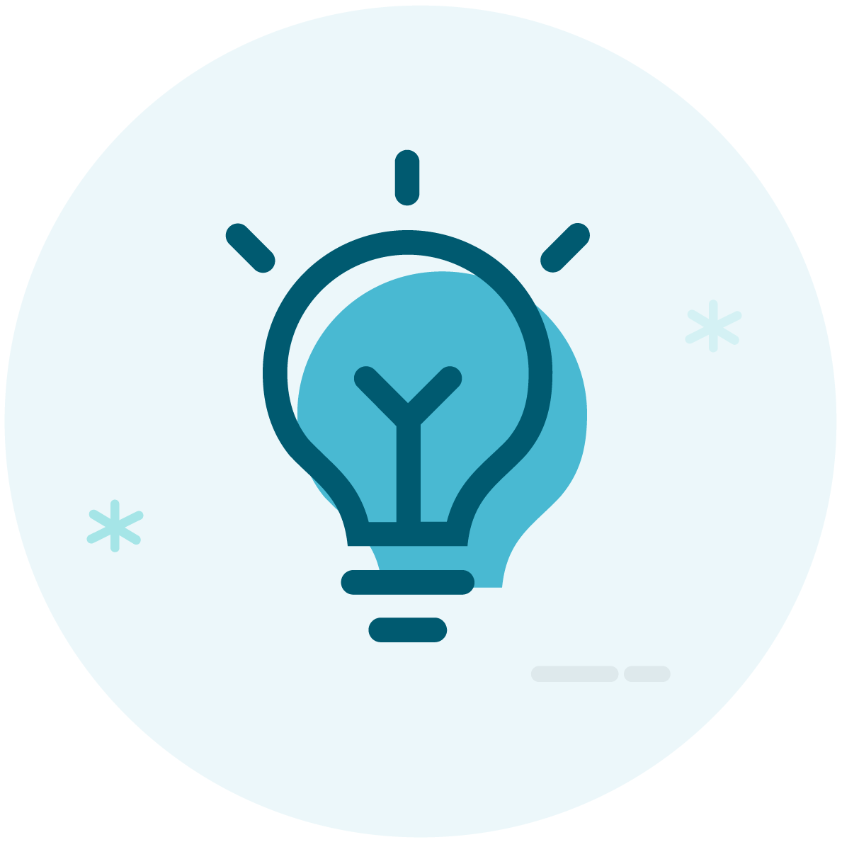 Become a Go-To Expert. Image contents: Outline of a light bulb.